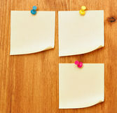 Three blank notes Royalty Free Stock Photos