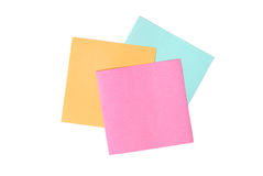 Three blank notes on white Royalty Free Stock Image