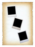Three blank photo frames stock images