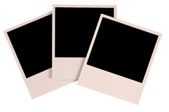 Three blank photos Stock Photo