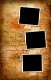 Three blank photos Royalty Free Stock Photos