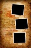 Three blank photos Royalty Free Stock Photos