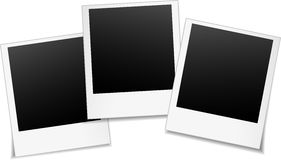 Three blank photos Royalty Free Stock Photography