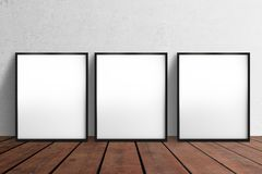 Three blank poster Stock Photography