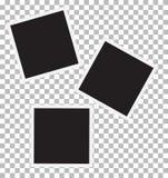 Three blank retro photo frames. Stock Photos