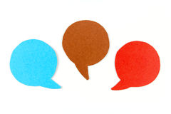 Three blank speech bubbles Royalty Free Stock Photos