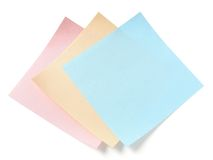 Three blank stickers Royalty Free Stock Images