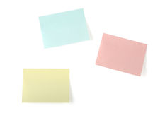Three blank sticky note Royalty Free Stock Photos