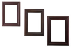 Three blank wood image frame Stock Image