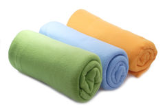 Three blankets Stock Images
