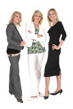 Three blonds. Three blonde business woman taken over white Stock Photos