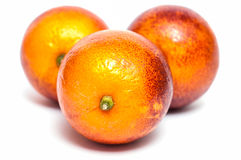 Three blood oranges Stock Images