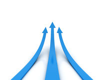 Three blue arrow - competition concept royalty free illustration