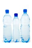 Three blue bottle  isolated Royalty Free Stock Photo