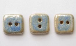 Three blue buttons Stock Photos