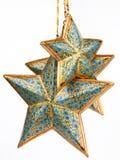 Three blue color stars Royalty Free Stock Photos