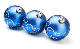 Three blue decoration balls Royalty Free Stock Images