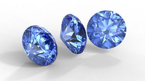 Three blue diamonds Royalty Free Stock Photography