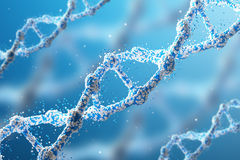 Three blue DNA chains Royalty Free Stock Photo