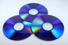 Three blue DVDs Stock Image