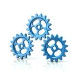 Three blue gear wheels Royalty Free Stock Photo
