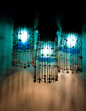Three blue lamps Royalty Free Stock Photos
