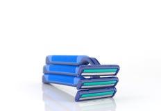 Three blue razors Stock Photography