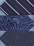 Three blue ties. Stock Images