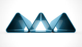Three blue triangles  Royalty Free Stock Photography