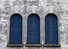 Three blue windows Royalty Free Stock Images