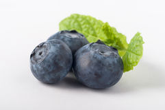 Three Blueberries Grouped Royalty Free Stock Image