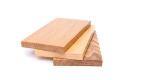 Three boards fan (oak, elm, acacia) Royalty Free Stock Images