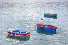 Three boast in the Asturian sea. Three fishing boats in the Asturian sea Stock Image