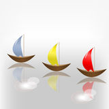 Three boat Royalty Free Stock Photography