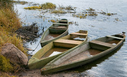 Three Boats Stock Photography