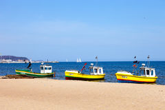 Three boats Royalty Free Stock Image