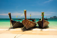 Three boats. Royalty Free Stock Photos