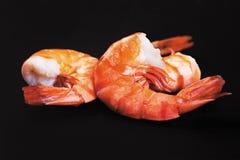 Three boiled shrimps Stock Image