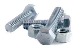 Three Bolts Some Nuts Stock Photo
