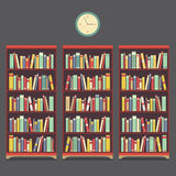 Three Bookcase Vintage Design Royalty Free Stock Photo