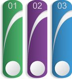 Three bookmarks Stock Images