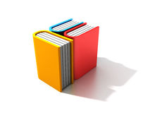 Three books. On white background vector illustration
