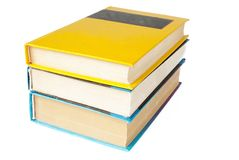 Three books. Over white background Stock Image