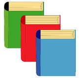 Three books Stock Photos