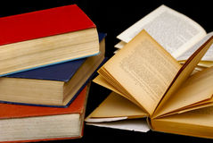 Three books Stock Images