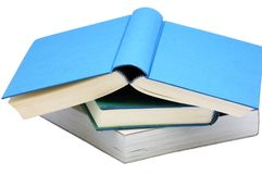 Three books Royalty Free Stock Photos