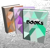Three books on abstract background vector illustration. Three books on abstract background vector EPS 10 stock illustration