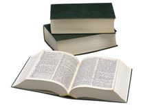 Three books-dictionary Royalty Free Stock Images