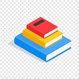 Three books on each other isometric icon. 3d on a transparent background vector illustration Royalty Free Stock Images