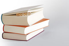 Three books and message - vision Royalty Free Stock Photography